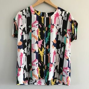 Cynthia Rowley Short Sleeve Blouse S